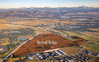 an aerial view of the Redtail Ridge site plan
